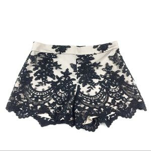 Alice + Olivia | Lace and sequin shorts | Size 0
